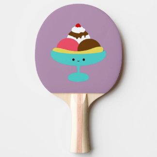 Cute Banana Split Ping Pong Paddle