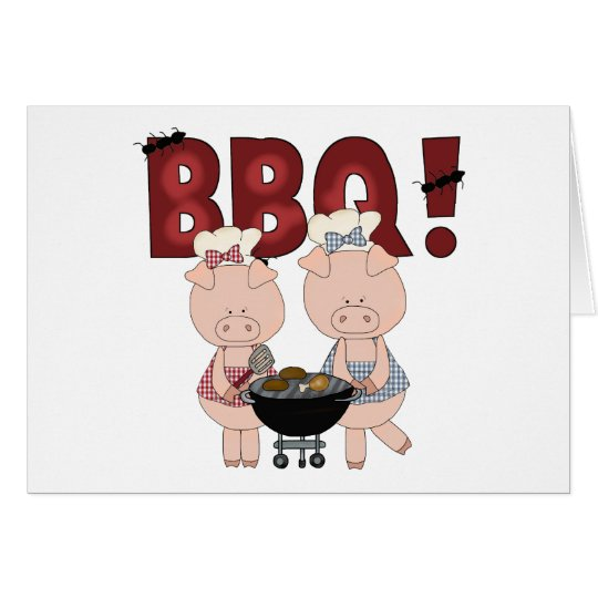 Cute Barbecue Gift Card