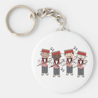 Cute Barbershop Quartet Gift Basic Round Button Keychain