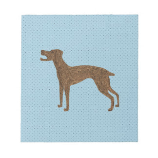 Cute barking dog notepad
