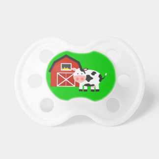 Cute Barn and Cow Farm Gift Baby Pacifiers