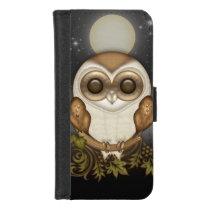Cute Barn Owl iPhone 8/7 Wallet Case