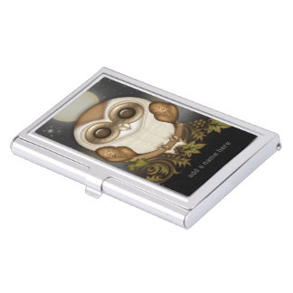 Cute Barn Owl Case For Business Cards