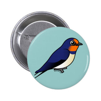 Cute Barn Swallow 2 Inch Round Button