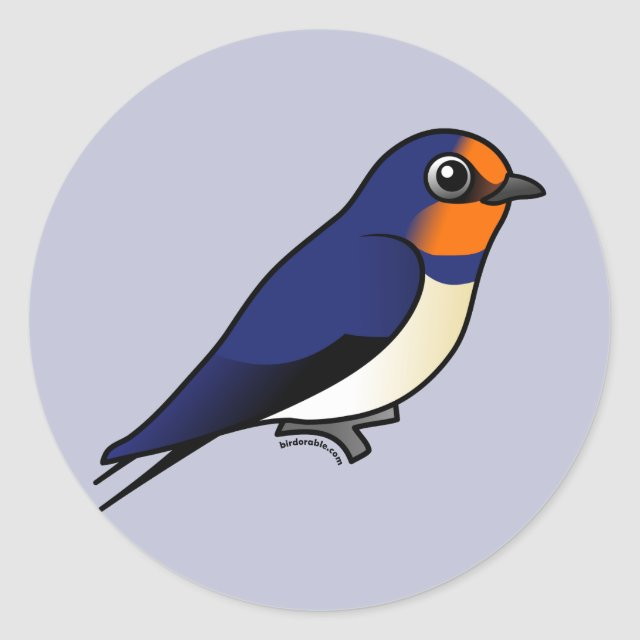 Round Sticker Our Cute Birdorable Version Of The Barn Swallow One Most Widely Spread Birds In World This Will Make A Great Gift For