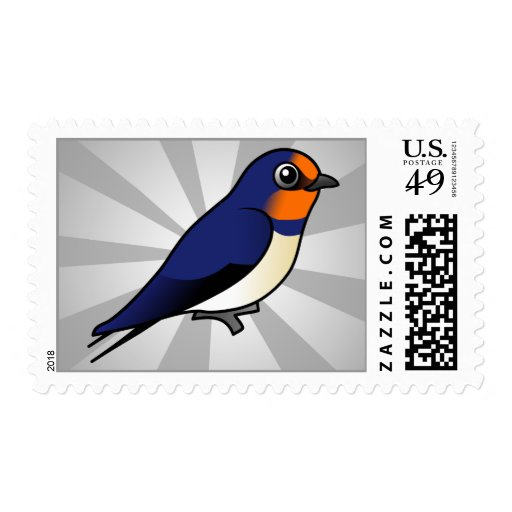 Cute Barn Swallow Stamps
