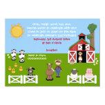 Cute barnyard farm animal childrens birthday card