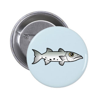 Cute Barracuda Button