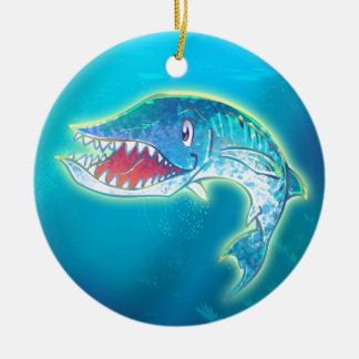 Cute Barracuda Ceramic Ornament