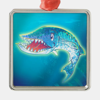 Cute Barracuda Metal Ornament