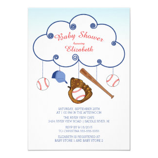 Cute Baseball Baby Shower Invitations