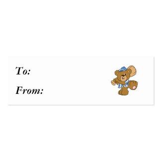Cute Baseball Bear Business Card Templates