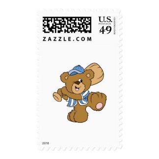 Cute Baseball Bear Stamps