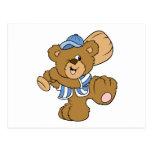 Cute Baseball Bear Postcard