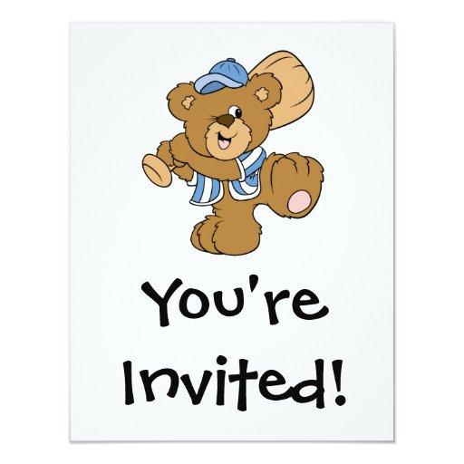 Cute Baseball Beat 4.25x5.5 Paper Invitation Card