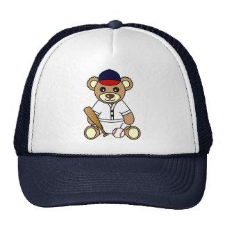 Cute Baseball Boy Teddy Bear Trucker Hat