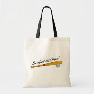 Cute Baseball Girlfriend Tote Bag
