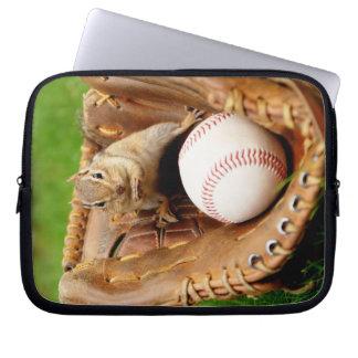 Cute Baseball Loving Chipmunk Laptop Computer Sleeve