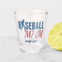 Cute Baseball Mom Shot Glass