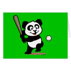 Greeting Card with Baseball Panda design