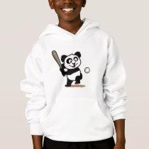 Cute Baseball Panda Hoodie
