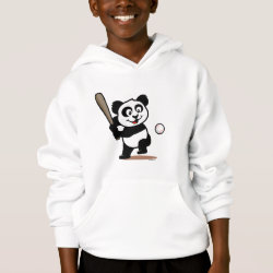 Girls' American Apparel Fine Jersey T-Shirt with Baseball Panda design