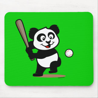 Cute Baseball Panda Mouse Pad
