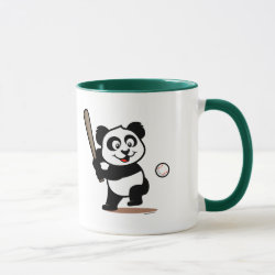 Combo Mug with Baseball Panda design