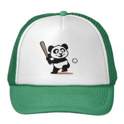 Trucker Hat with Baseball Panda design
