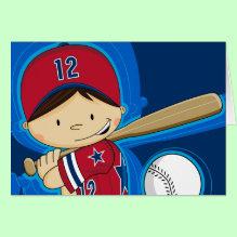 Cute Baseball Player Card