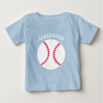 Cute Baseball Softball Personalized Baby Sports Baby T-Shirt