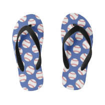 Cute baseball sports pattern flip flops