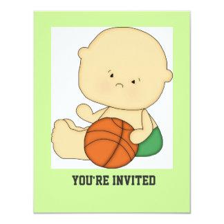 Cute Basketball Baby Shower Invitation