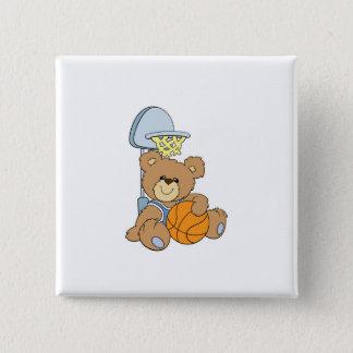 Cute Basketball Bear Button