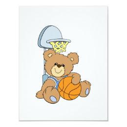 Cute Basketball Bear Card