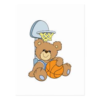 Cute Basketball Bear Post Card