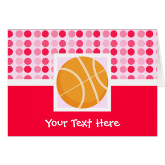 Cute Basketball Greeting Card