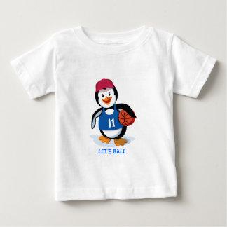 Cute Basketball Penguin Baby T-Shirt
