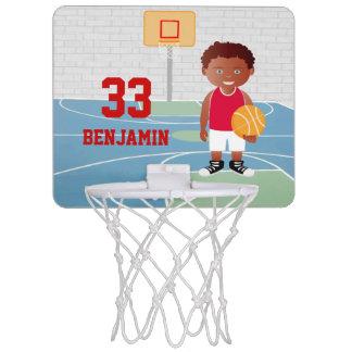 Cute Basketball Player 2 Red | White Mini Basketball Hoops