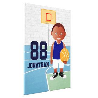 Cute Basketball player Canvas Prints