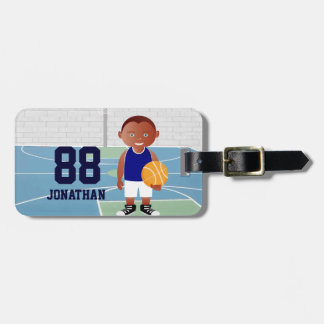 Cute Basketball Player Luggage Tag