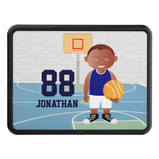 Cute Basketball Player Trailer Hitch Covers