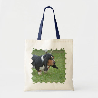 Cute Basset Hound Tote Bags