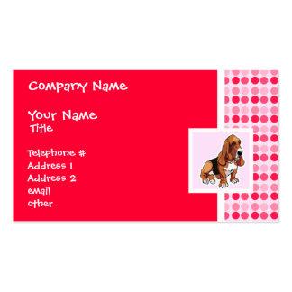 Cute Basset Hound Business Card Templates