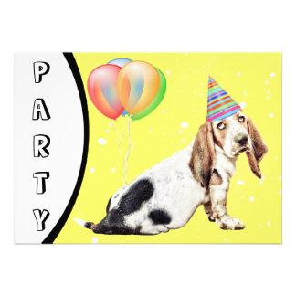 Cute Basset Hound dog Invitation