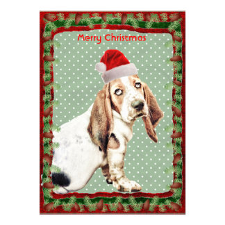 Cute Basset Hound dog Personalized Announcements