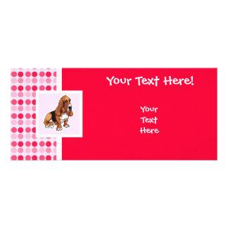 Cute Basset Hound Rack Card
