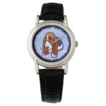 Cute Basset Hound Wrist Watch