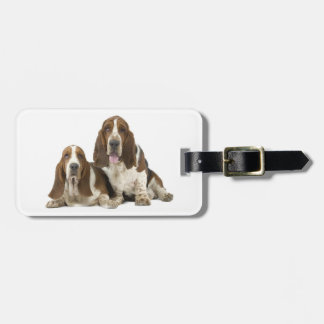 Cute Basset hounds Luggage Tag