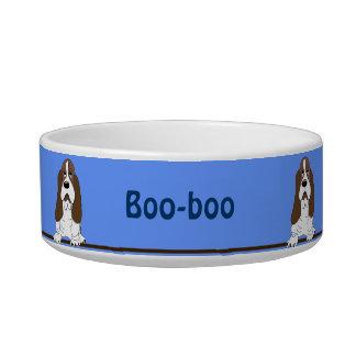 Cute Bassett Hound Breed Dog Personalized Pet Bowl